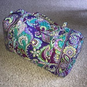 NWOT Vera Bradley Heather Purple Travel Duffel Bag